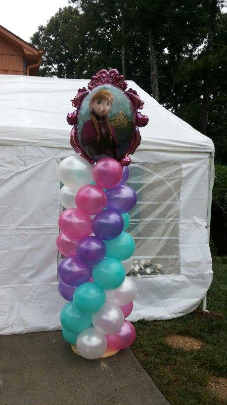 Tema de frozen Torres de globos/frozen theme balloon tower