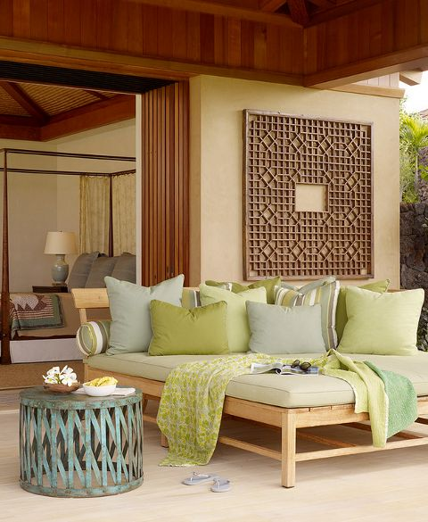 Room for two... or a whole family.  outdoors-6-tropical-daybed-GM-Construction-Inc. © GM Construction