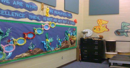 Bulletin Boards For Ocean Themed Classroom I Like The 3d