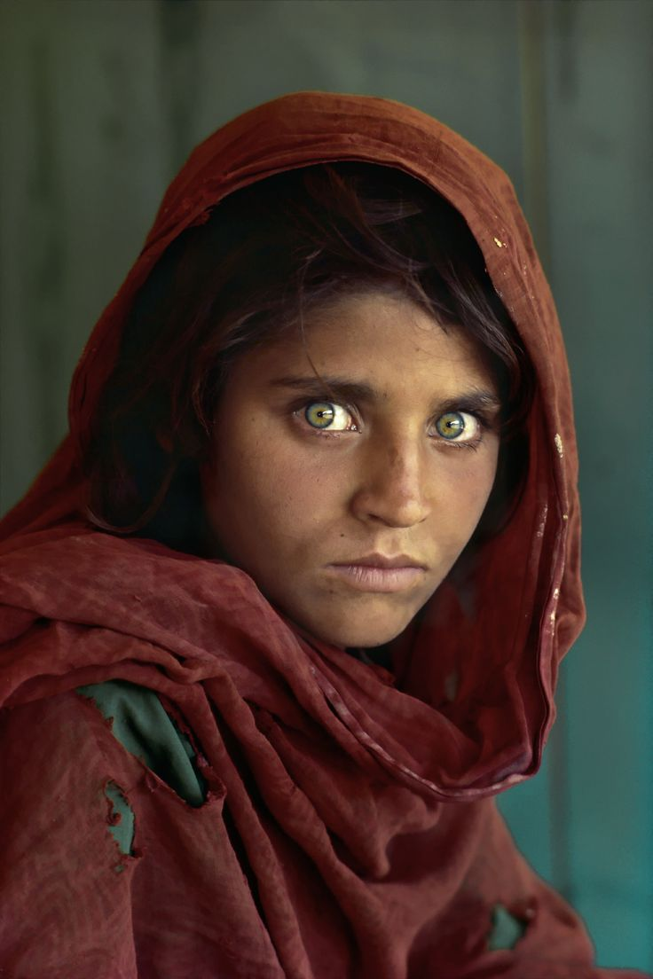 "Photojournalist Steve McCurry's 1984 photograph of Sharbat Gula, the iconic "" Afghan Girl"" was featured on the cover of the June 1985 National Geographic and captured hearts worldwide.  More on: http://harryneelam.com/photoblog/steve-mccurry-a-life-documenting-the-faces-of-the-human-condition/"