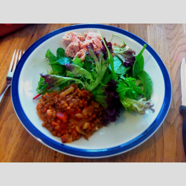 #4HB four hour body. Lunch! I love a bit of tuna :) Its good for women  eat oily fish:)