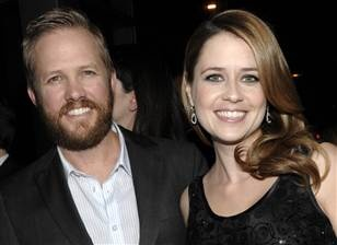 Jenna Fischer and her husband. The eyes. Look at the eyes.