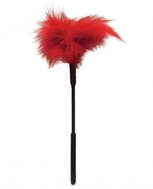 7″ Feather Tickler – Red