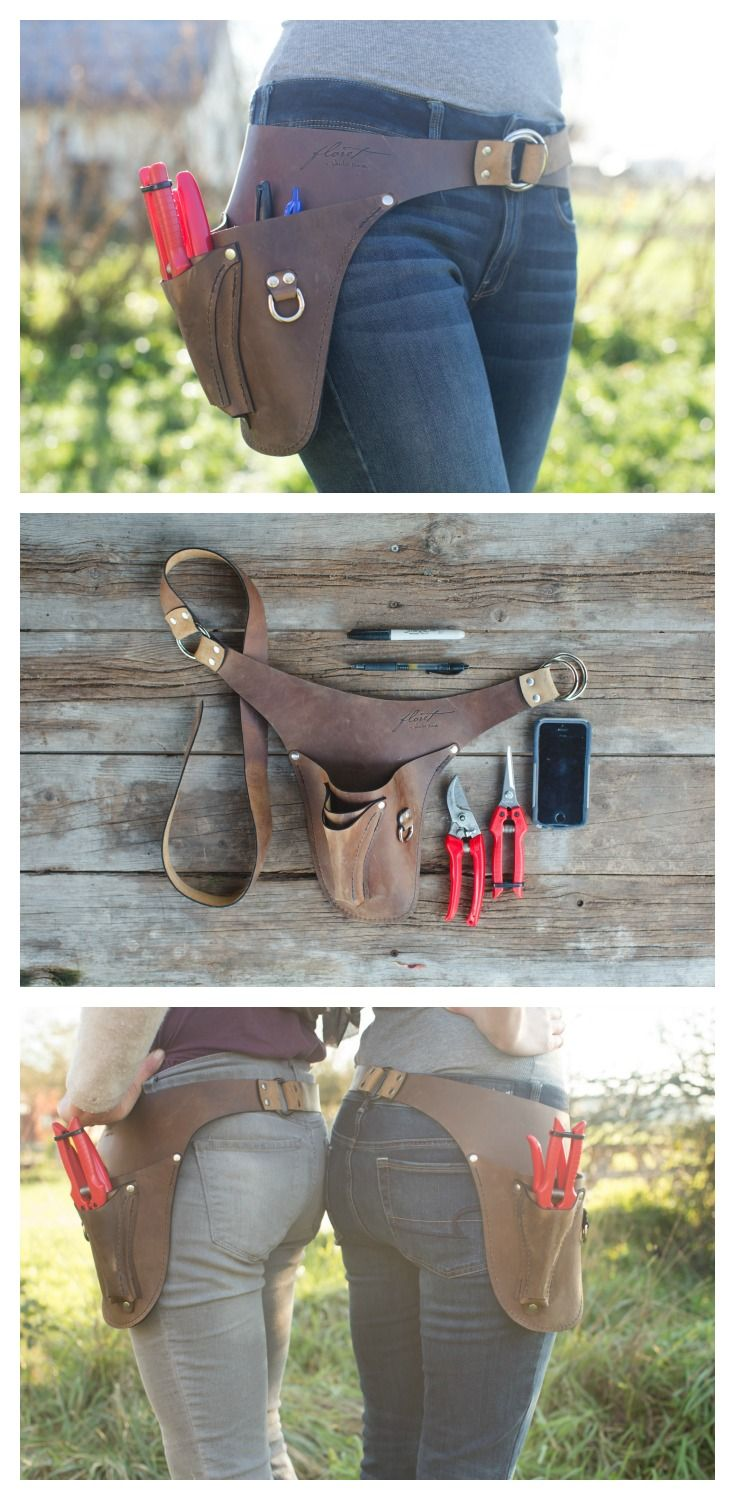 This handcrafted tool belt has revolutionized the way we work here at Floret, in the field, in the studio and even during wedding installations. After years of tearing holes in the back pockets of every pair of pants and misplacing phones, pens and flower snips throughout the day, this custom designed belt changed everything. Farmer-Florist tool belts are available in the Floret Shop.