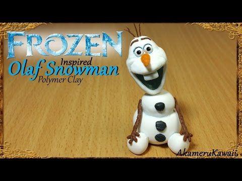 Olaf Snowman; Disney's Frozen inspired - Polymer Clay Tutorial - YouTube