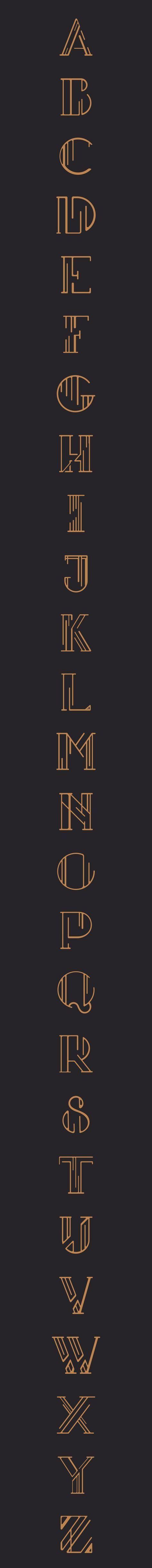 Insomnia Deco | Creative Art Deco style font