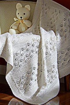 Красивый узор для вязания пледа спицами и не только. Схема вязания узора спицами есть!