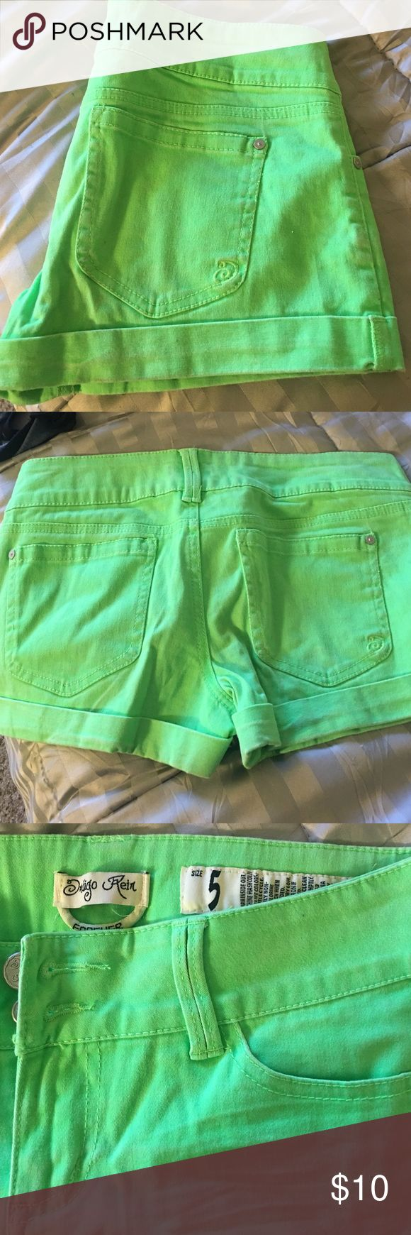 Lime green short shorts Super cute lime green shorts Shorts