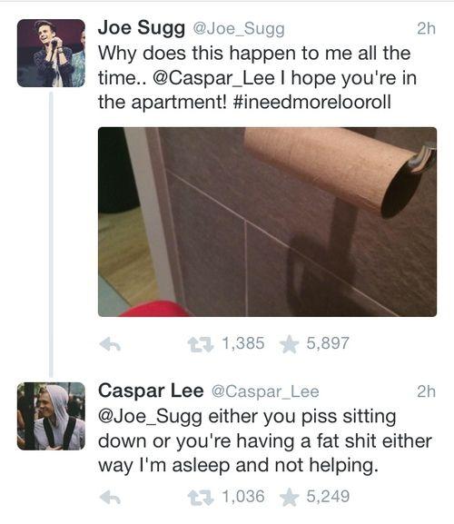 """I'm asleep and not helping"" | via Tumblr thatcher joe - #youtube, #caspar lee, #jaspar"