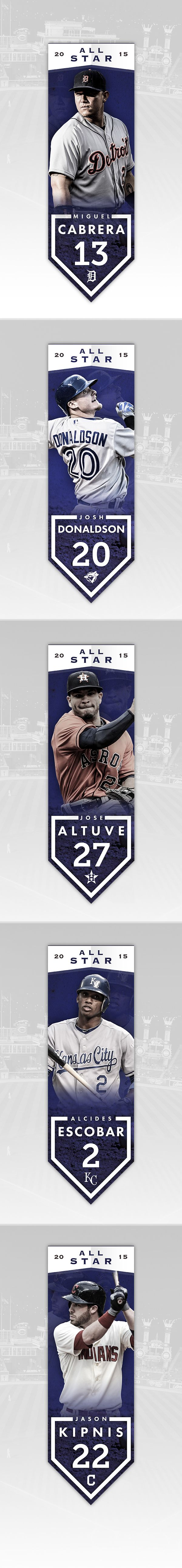 MLB All Star Banners on Behance