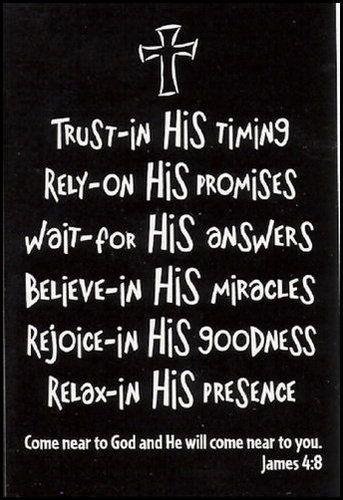 He is faithful<3