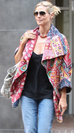 Heidi Klum is wearing something reallly sweet!