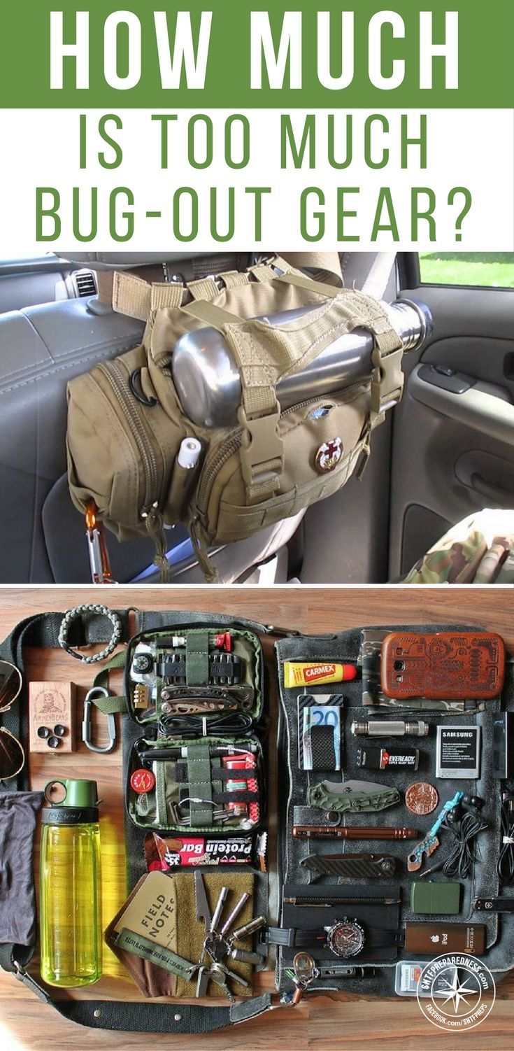 How Much Is Too Much Bug-out Gear? - You must be smart about when and how you bugout. The number one problem with too much gear is the weight. If your ultimate goal is to get from point A to point B. A 100lb pack is going to add a layer of difficulty to that. Not to mention if you run into enemies or must run from danger. #bugout #prepping #shtf