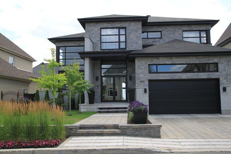 29 best fa ade de maison house facade images on pinterest facade landsca - Amenagement jardin moderne ...