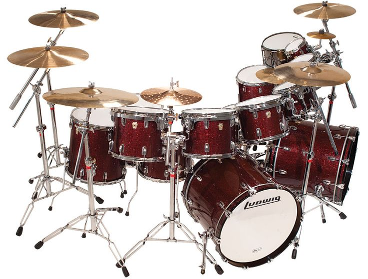 "Ludwig Drum Set Wallpaper | 11""x14"" Tom, Mini-Classic Lugs, Vibraband w/Keystone Bracket LT814KM1D ..."