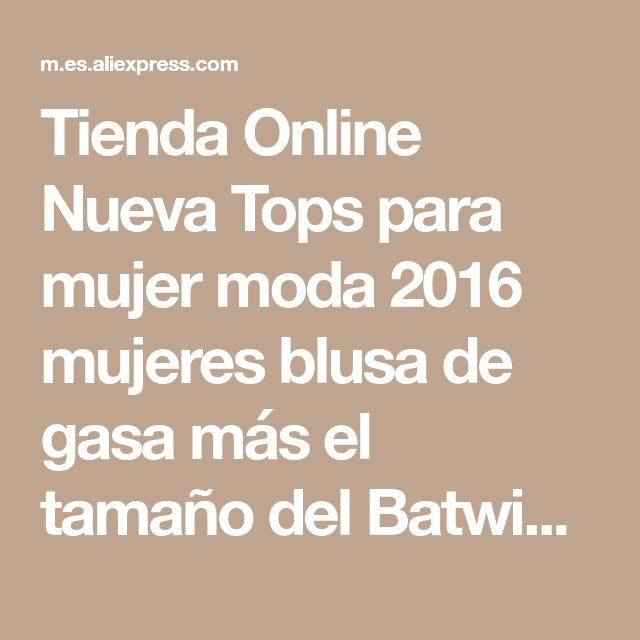 Tienda Online Nueva Tops para mujer moda 2016 mujeres blusa de gasa más el tamaño del Batwing de la colmena manga corta camisa Casual negro blanco azul rojo | Aliexpress móvil