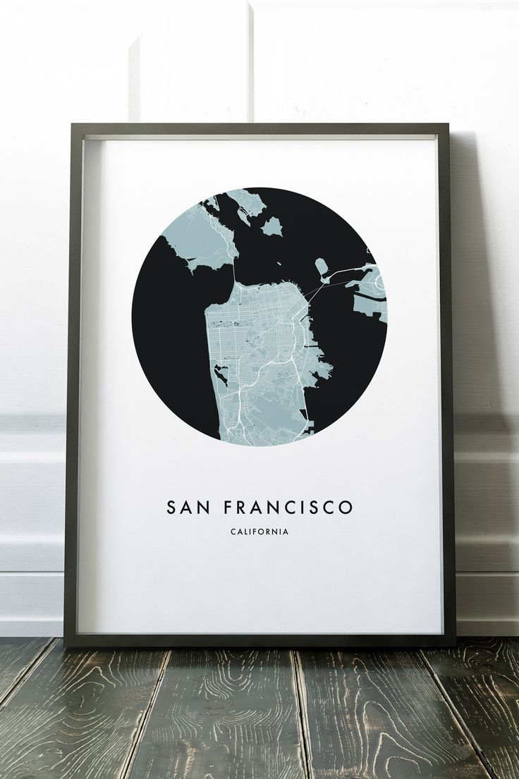 8 mejores imgenes de city map prints en pinterest mapas de la san francisco california city map print gumiabroncs Image collections
