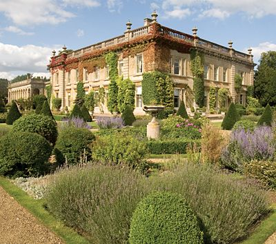 Kiddington Manor, Oxfordshire - grade-II listed house, originally built in 1673 but largely rebuilt to designs by Sir Charles Barry - gardens and parkland designed by 'Capability' Brown (bought by Jemima Khan in 2010).