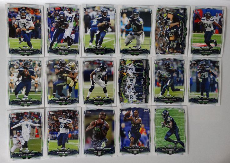 2014 Topps Seattle Seahawks Team Set of 17 Football Cards #SeattleSeahawks