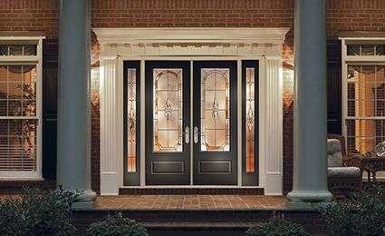 Therma tru classic craft canvas collection fiberglass for Harvey therma tru doors