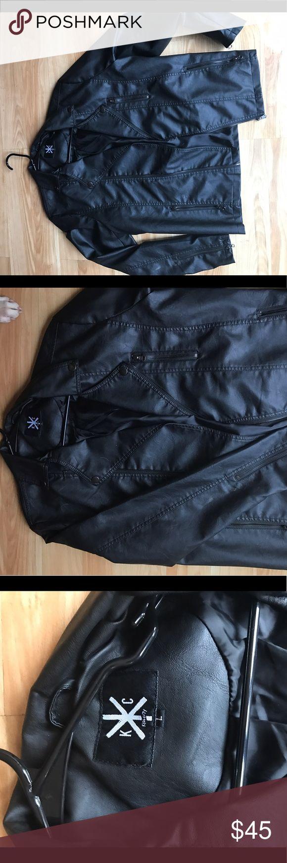 MENS ASOS LEATHER JACKET Worn once, good as new. Black leather men's LARGE jacket. ASOS Jackets & Coats Bomber & Varsity