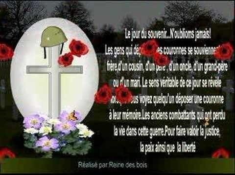 Jour du souvenir 11 Novembre oublions jamais