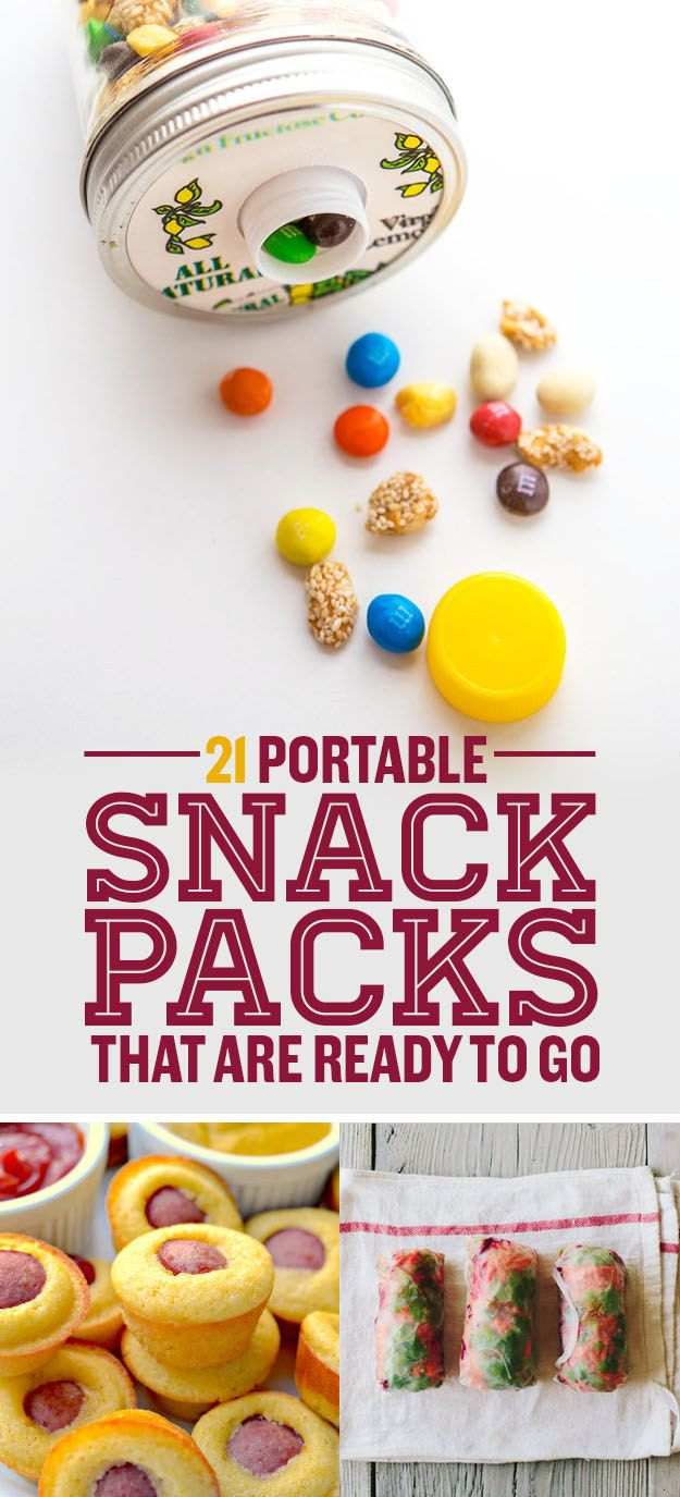 Mess-free treats that are perfect for packing.