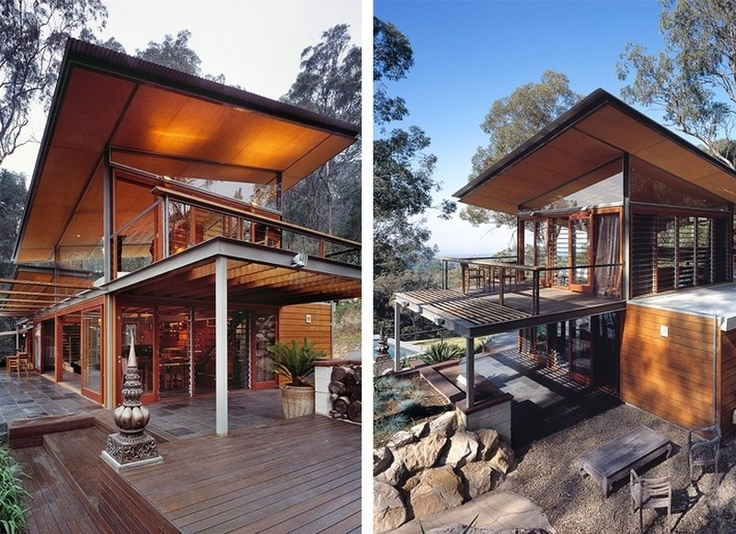 Sydney is one of the world's great cities... busy, crowded, traffic jams, noisy. The mountain top home shown here is a weekender but being just 80 kilometres from Sydney Central, it would certainly suit my 'home-office lifestyle'.   Share your thoughts after viewing all 20 images and plans on our site at  http://theownerbuildernetwork.com.au/vacation-homes/bowen-mountain-house-cplusc-architecture/