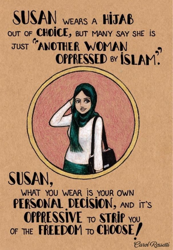 For the women who are proud of choosing to honour their faith in a way that makes them happy. | These Stunning Illustrations Contain Powerful Messages For Women Around The World