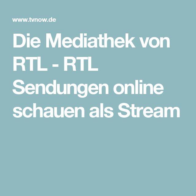 Die Mediathek von RTL - RTL Sendungen online schauen als Stream