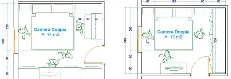 Le misure dell'uomo - Esempi camera da letto