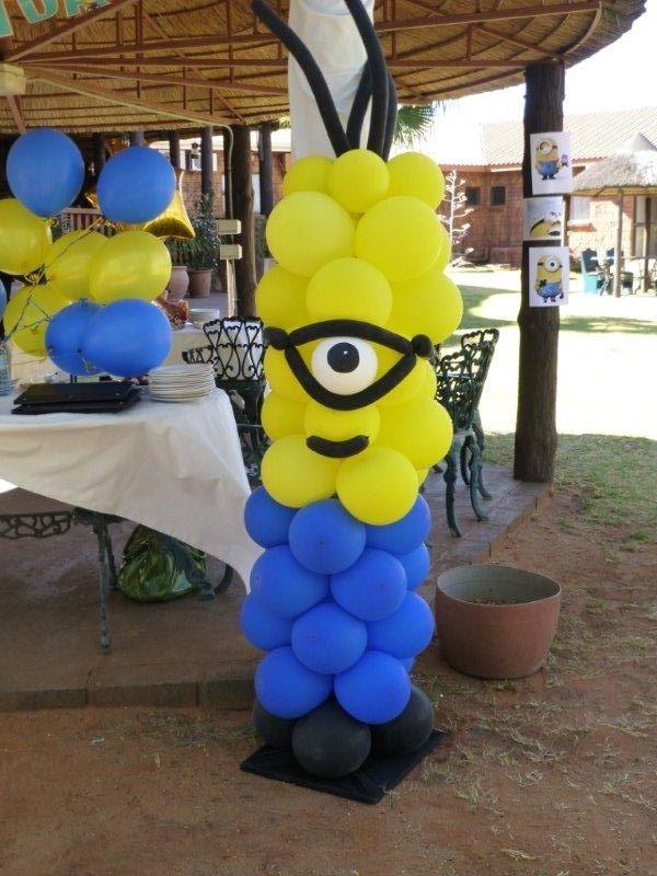 Minion balloon hardings party pinterest