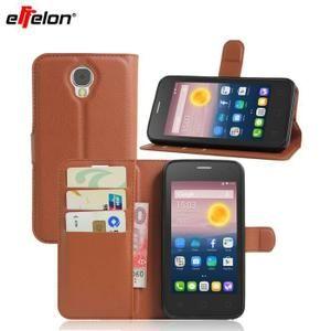 Effelon Pour Alcatel One Touch Housse en carton Pixi 4 Housse pour téléphone portable Flip Phone pour One Touch Pixi 4