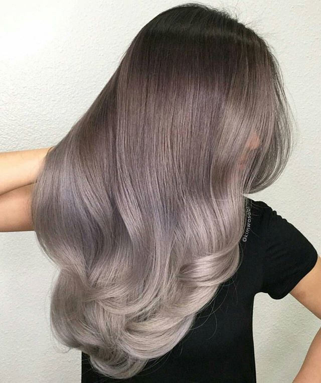 All about that ash, violet and smoky silver! Amazing hair ...