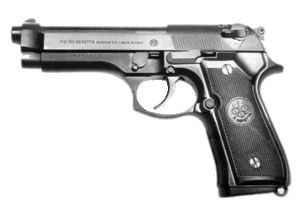 Beretta 92FS.  I love this gun.  It has never let me down and the quality is superb.