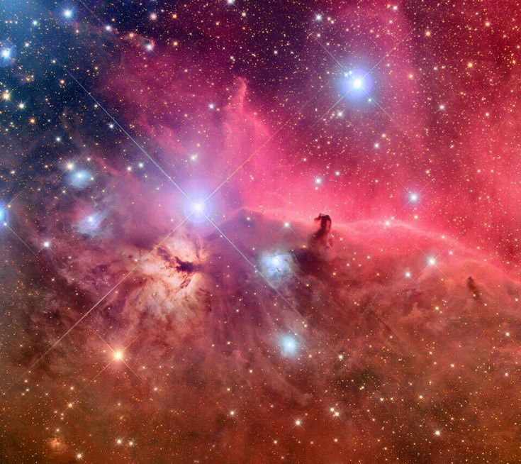 Horsehead nebula in the Orion constellation taken by the Hubble telescope.