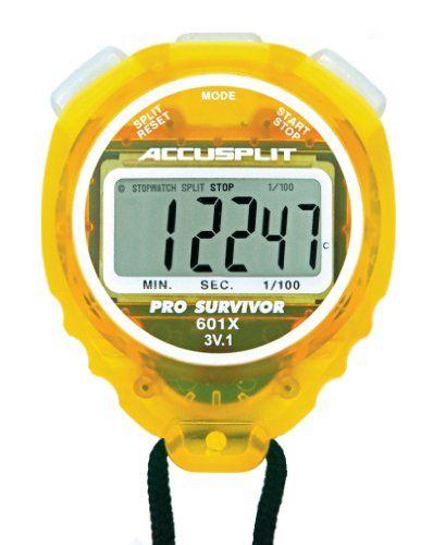 ACCUSPLIT Pro Survivor – A601X Stopwatch, Clock, Extra Large Display @fitness