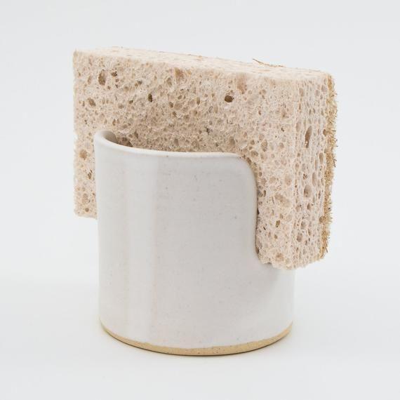 Ceramic Single Sponge Holder White In 2020 Sponge Holder Ceramic Utensil Holder Ceramics