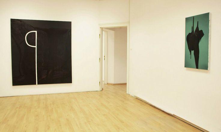 Sebastian Krzywak, mixed media on canvas, 2014, installation view