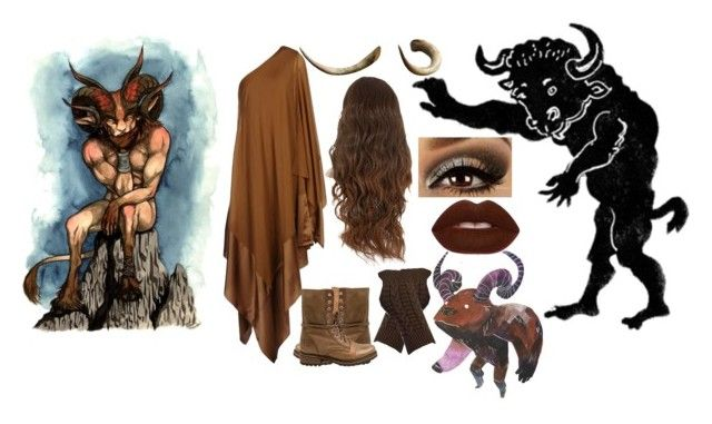 Minotaur by slytheriner on Polyvore featuring Donna Karan, Steve Madden and Lime Crime