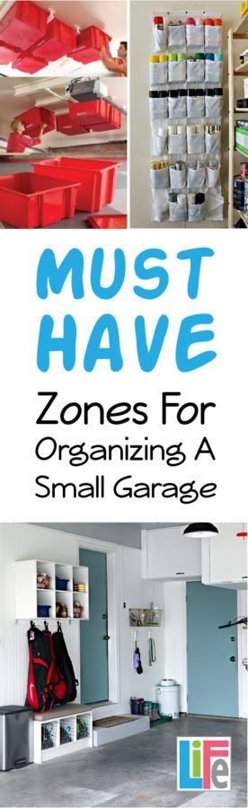 Great tips on how to organize a garage, specifically small or limited space garages!