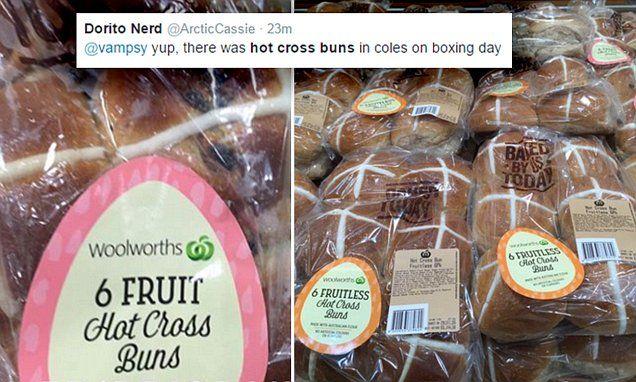 Easter hot cross buns hit supermarket shelves – at Christmas #DailyMail