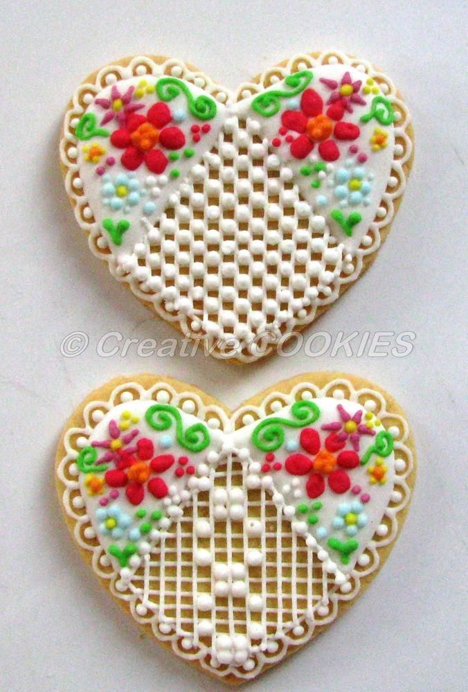 Needlepoint Heart cookie by Creative Cookies Belgrade
