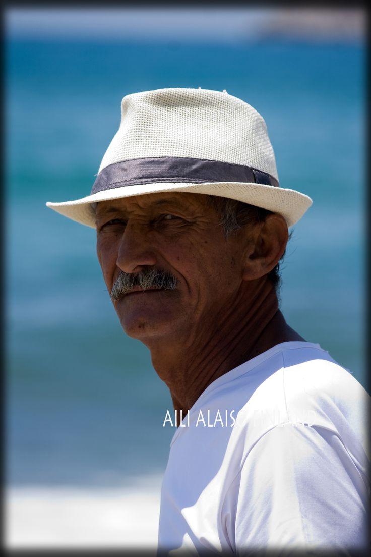 The man on the beach in Turkey,  Photo Aili Alaiso Finland