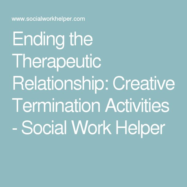 ending the therapeutic relationship in counselling