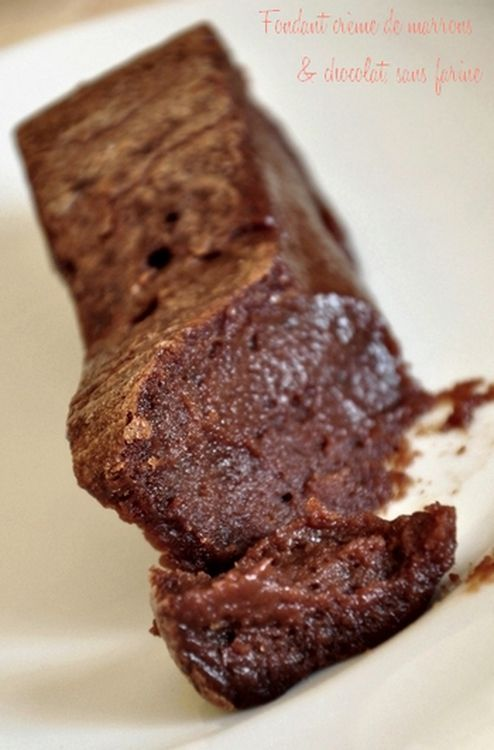 Fondant crème de marrons et chocolat, sans farine