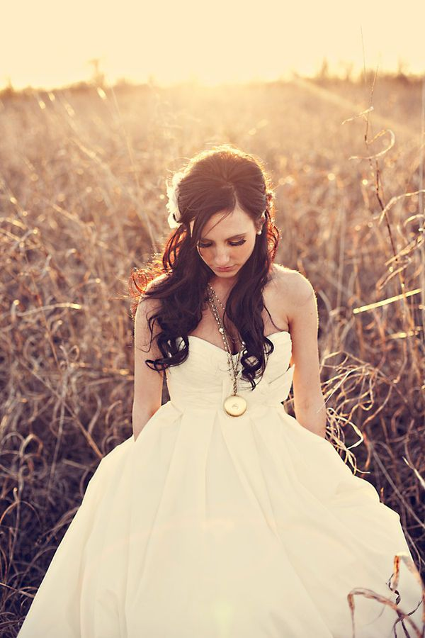 beautiful gown and hair