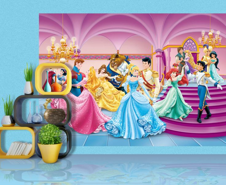 Princess Disney Girls Wall Mural By WallandMore. Perfect for your girl's bedroom.