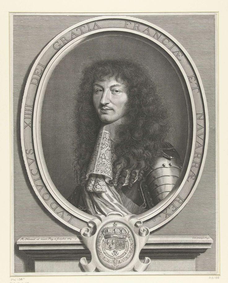 Portret van Lodewijk XIV, koning van Frankrijk, Robert Nanteuil, 1664