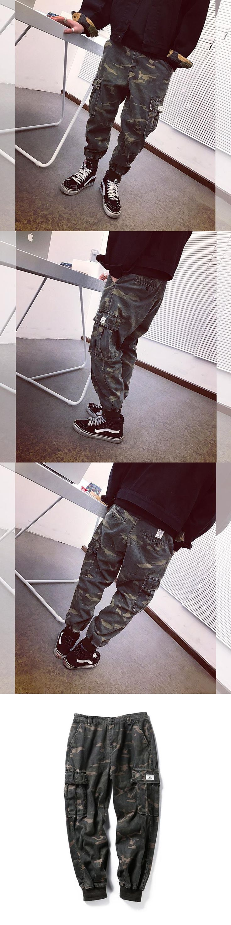2017 winter men clothing camouflage cargo trouser male casual man pantalon homme military pants Camouflage Style Casual Pants